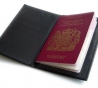 Passport holder his open